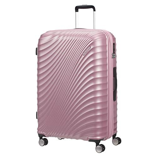 American Tourister Jetglam Spinner L Espandibile Valigia, 77 cm, 109 litri, Rosa (Metallic Pink)