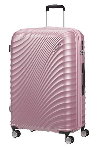 American Tourister Jetglam Spinner L Expandible Maleta, 77 cm, 109 L, Rosa (Metallic Pink)