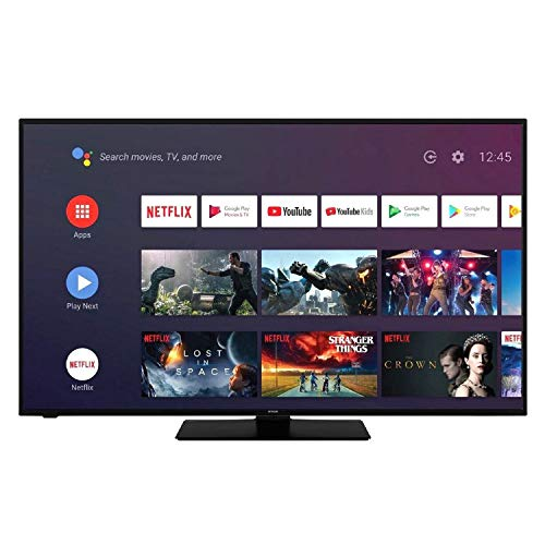 "Hitachi - Smart TV LED 43"" (109 cm), Ultra 4K, Sistema Android, Codice dell'Articolo: 43FK5HAK5750 Applicazioni Netflix, Youtube, Prime Video / WiFi / 4 HDMI / 2 USB"