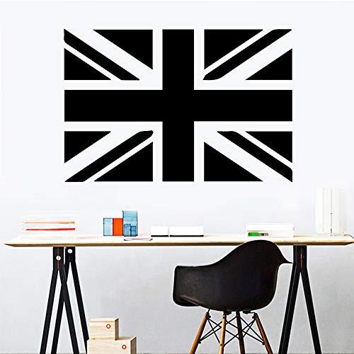 hetingyue Vlag van de Britse vlag groen vinyl sticker natuurlijke decoratie afneembare muursticker