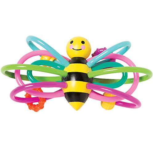 Manhattan Toy Winkel Hochet en forme d'abeille et anneau de dentition sensoriel pour bébé