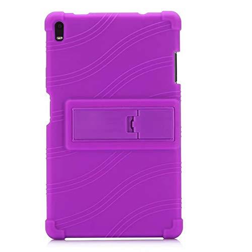 Oneyijun Púrpura Suave Silicona Piel Bolsa Proteccion Caso Protector Cubrir Funda para Lenovo Tab 4 Plus TB-8704N/F 8.0 Pulgadas Tableta