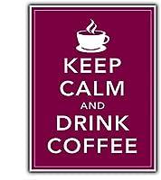 落ち着いてコーヒーを飲むブリキの看板壁の装飾金属ポスターレトロなプラーク警告看板オフィスカフェクラブバーの工芸品