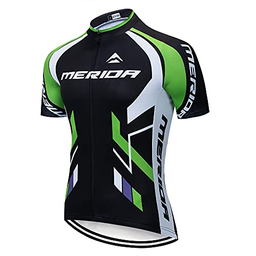 Cycling Jersey Men Bike Clothing Short Sleeve Quick Dry MTB Jersey Breathable Bike Shirts with Reflective Strip for MTB Sports