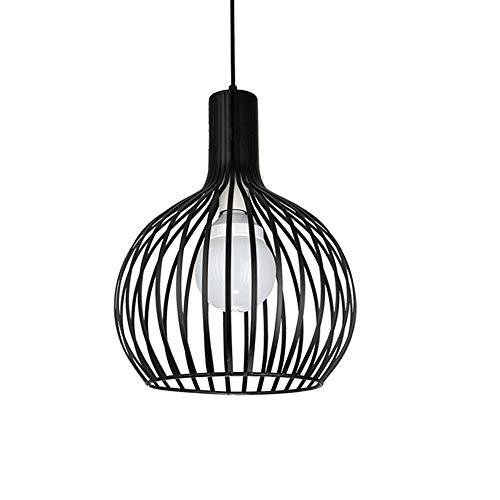Mengjay Industrielampe Industrielle Hängeleuchte Vintage Pendelleuchte mit Käfig Loft Hängelampe Esszimmer Lampe Metall Schwarz für Küche, Wohnzimmer, Schlafzimmer Restaurant