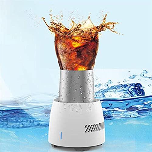Bebida Rápida Enfriador Copa Botella de Cerveza Eléctrica Can Water Bebidas Soda Taza de Enfriamiento Bolsas de Hielo Barra de Barras Barra de Herramientas Accesorios Cooler ( Color : White EU Plug )