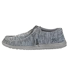 The Hey Dude™ Wally B Sox will be an instant favorite in your modern-casual collection. Woven knit fabric upper material. Lace-up closure. Rounded toe. Low-top, chukka construction. Signature logo details throughout. Soft, oxford cloth lining. Memory...