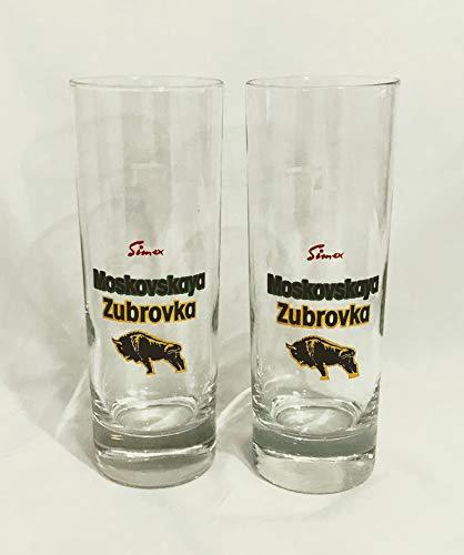 Moskovskaya Gläser 0,2l / Zubrovka/Longdrik Glas/Wodka Gläser / 2 Set