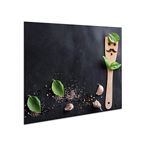 Herdabdeckplatten aus Glas Herdabdeckung Schneidebrett Spritzschutz 60 x 52 | von semUp