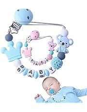 : f-p Catenella porta ciuccio neonato personalizzato-[NUOVO MODELLO] clip ciuccio-catenina ciuccio