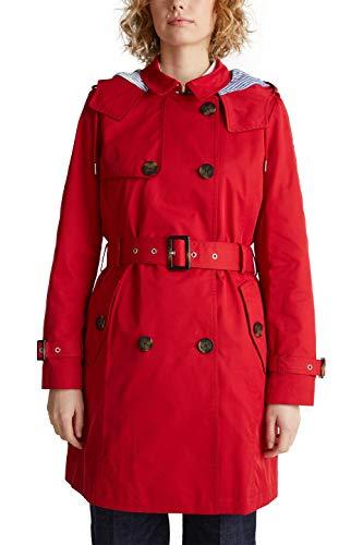 ESPRIT Damen 010EE1G309 Mantel, Rot (Dark Red 610), Small (Herstellergröße: S)