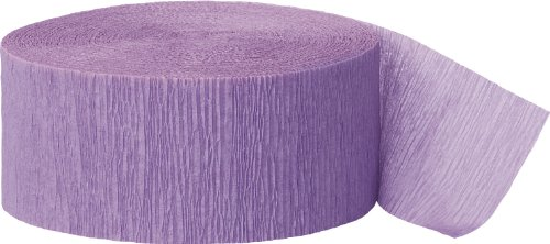 Unique Industries 81ft Lavender Crepe Paper Streamers -