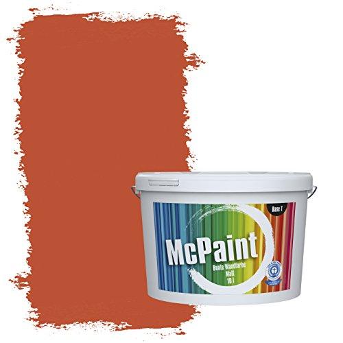 McPaint Bunte Wandfarbe Terracotta - 5 Liter - Weitere Orange Farbtöne Erhältlich - Weitere Größen Verfügbar