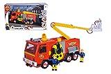 Simba Bombero Camión Deluxe Jupiter con 2 Figuras Sam y Penny, 3 años, 109251085038