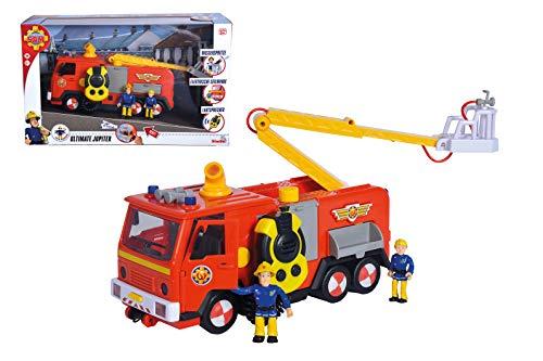 Simba 109251085038 Feuerwehrauto Deluxe Jupiter mit 2 Sam und Penny, 3 Jahre