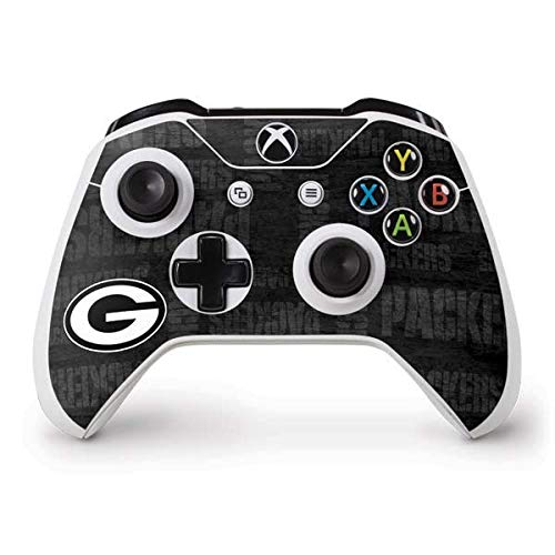 Skinit Decal Gaming Skin Compatible with Xbox One S Controller - Officially Licensed NFL Green Bay Packers Black & White Design