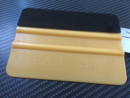 qili 3M Gold FILZRAKEL KFZ Folien Aufkleber - Filzrakel aus Kunststoff als Werkzeug für Folierung von: Autofolie, Möbelfolie, Fensterfolie, Tönungsfolie, Wantatto