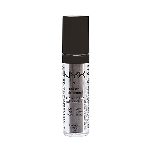 NYX Roll on Eye Shimmer Onyx-Black with Multi Colored Glitter for...