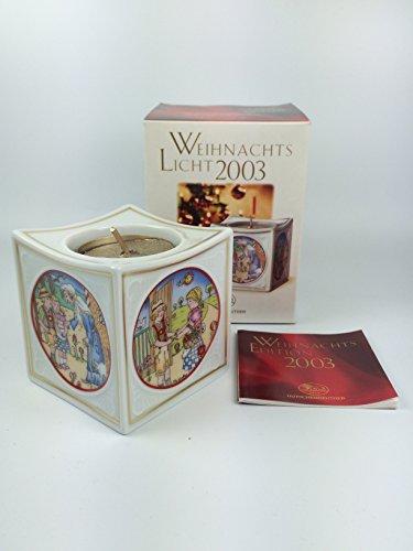 Hutschenreuther Porzellan Weihnachtslicht Licht (Tischlicht, Teelicht) 2003 in der Originalverpackung NEU 1.Wahl