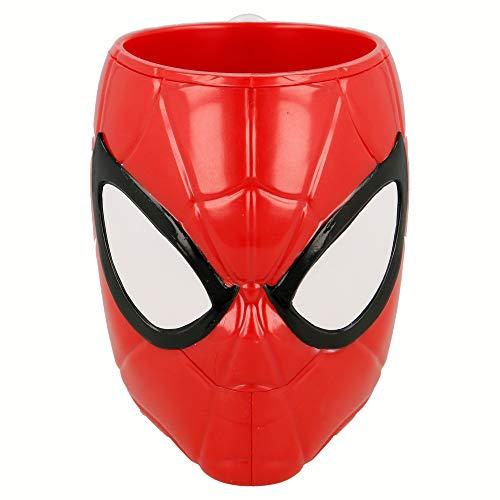 Elemed 33487 3D PS Becher Spiderman geformt, mehrfarbig