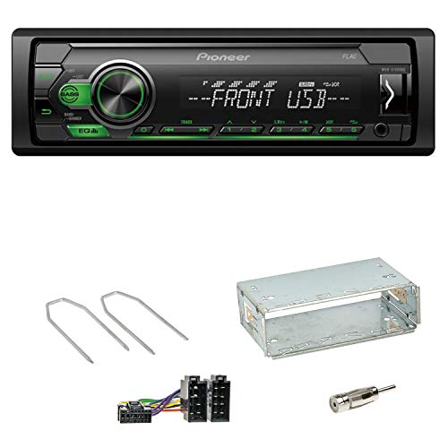 Pioneer MVH-S110UBG USB AUX MP3 Autoradio Einbauset für Peugeot 206 206 CC