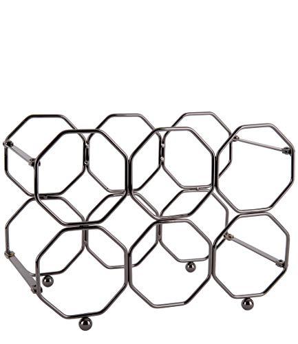 Present time HONEYCOMB - Botellero vertical gris ahumado plegable