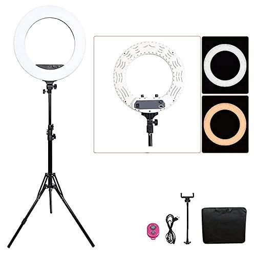 FACAZ Anillo de luz LED, 14 Pulgadas / 40W 5800K Regulable 432 Anillo de luz LED con Soporte de luz de 2M, Receptor Bluetooth para teléfono Inteligente