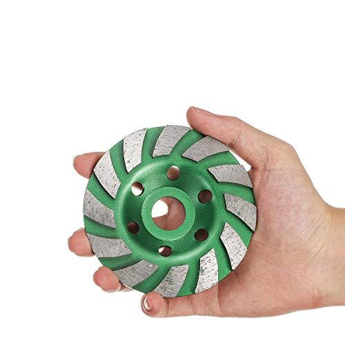 Disco de muela de diamante de 4 pulgadas a 100 mm, forma de cuenco, taza de molienda, piedra, hormigón, granito, cerámica, herramientas, verde