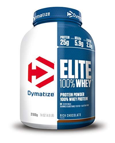 Dymatize Elite Whey Cioccolato Ricco 2,1Kg - Le Proteine di Siero del Latte Perfette in Ogni Momento - 2100 g