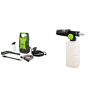 GreenWorks 1600 PSI 1.2 GPM Pressure Washer + High Pressure Soap Applicator