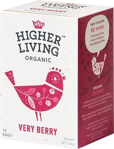 Higher Living | Very Berry Organic Tea | 1 x 15 bags