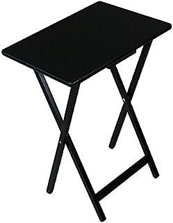 Folding Wooden Portable TV Table Tray (Black)
