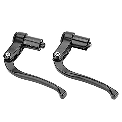 Bicycle Brake Levers, Fixed Gear Mountain Road Bike Handlebar Brake Level Part(Black)