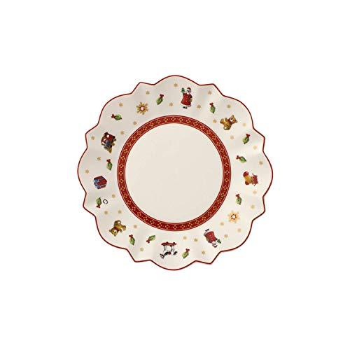 Villeroy und Boch Toy\'s Delight Brotteller, 17 cm, Premium Porzellan, Weiß/Rot