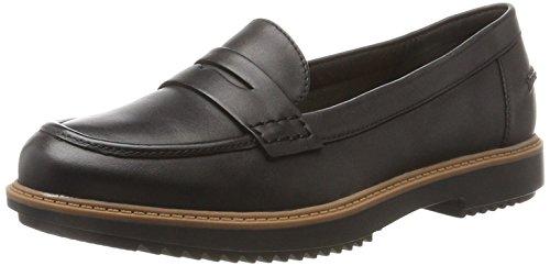 Clarks Damen Raisie Eletta Mokassin, Schwarz (Black Leather), 39.5 EU