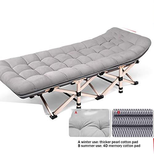 HIGHKAS Transats Lit Pliant Lit Simple Maison Lit Adulte Siesta Lounge Chair Bureau Simple Lit Marching (Taille: 190 * 75 * 36cm)