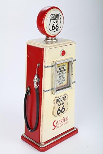 point home - Armadio di design a colonna, stile retrò, rosso/bianco, 81 cm