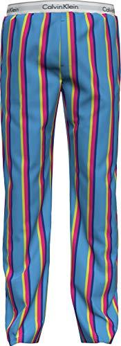 Calvin Klein Sleep Pant Pantaln de Pijama, Rayas Solares/Azul Burst, XL para Hombre