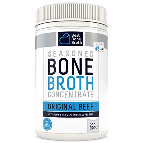 BONE BROTH Brodo concentrato di ossa bovine di qualità premium – Brodo di ossa di massima nutrizione in pochi minuti – Senza ormone ne additivi, delizioso sapore naturale - 260gram