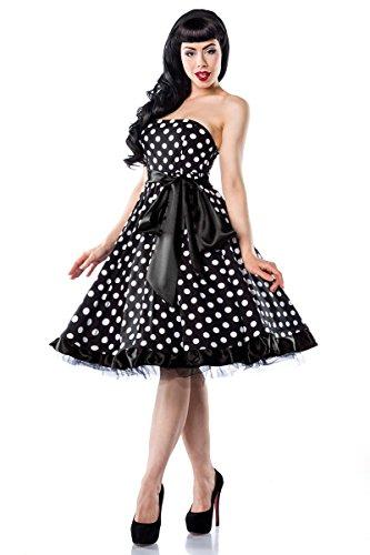 Atixo Rockabilly Vintage Bandeau jurk zwart/kent/rood gr. 3 x (46)