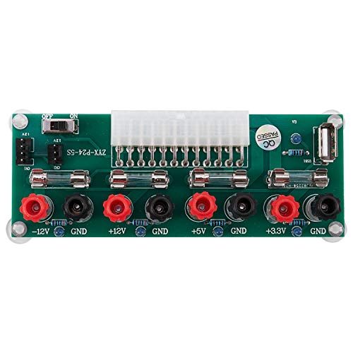 Dasing Electric Circuit 24Pins Atx Benchtop Computer Power Supply 24 Pin Atx Breakout Board Module Plug With Usb 5V Port