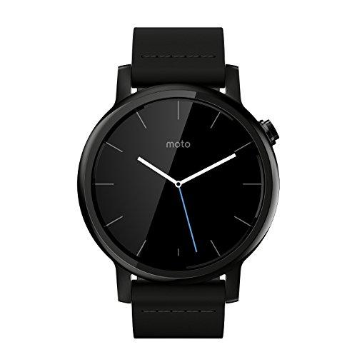 Motorola Moto 360 2nd Gen. Mens 42mm Smartwatch, Black with Black Leather