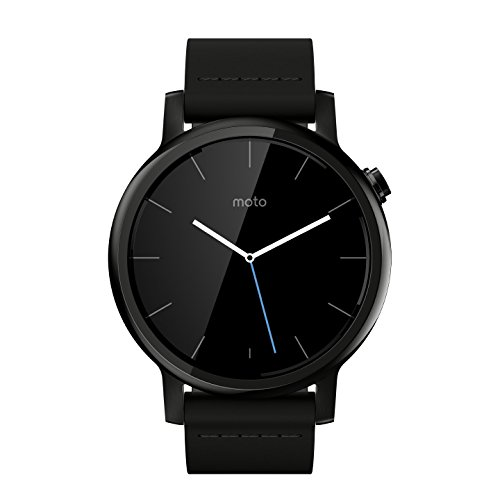 Motorola Moto 360 2nd Gen. Mens 42mm Smartwatch, Black with Black Leather 1