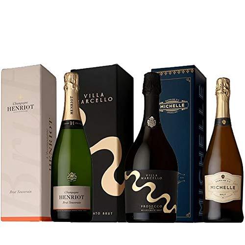 ソムリエが選ぶ 箱入りシャンパン&スパークリング3本ワインセット ギフト パーティー セット