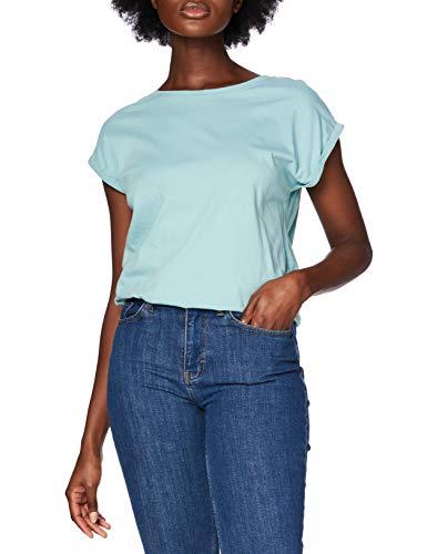 Urban Classics Damen Ladies Extended Shoulder Tee T-Shirt, bluemint, M