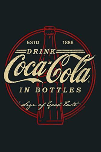 Womens Coca Cola Drink In Bottles Vintage Logo V Neck: Notebook Planner...