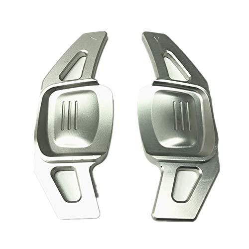 Padillas de cambio Paddle de cambio de volante para volkswagen Tiguan Passat B8 Golf6 Golf7 MK7 Arteon Modificación de interiores Accesorios (Color : Silver)