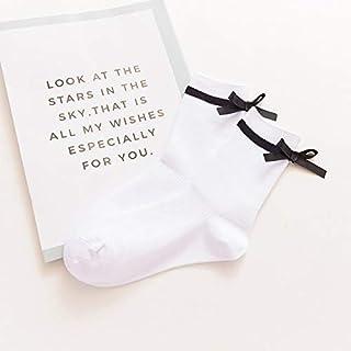 CYMTZ, 5 Par/Paquete De Calcetines De Algodón con Lazo De Personalidad para Mujer Calcetines Bonitos De Moda para Mujer Calcetines Largos Rojos Divertidos