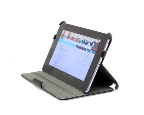 StilGut UltraSlim Hülle Tasche mit Standfunktion für Google Asus Nexus 7 (8 und 16GB) Tablet Sleep & Wake Up Funktion (EIN-& Ausschalten durch Aufklappen der Schutzhülle), schwarz