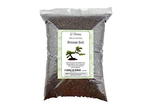 Bonsai Soil - All-Purpose Bonsai Tree Soil Mix, All-Natural Organic Material Great for All Bonsai Trees Nutrient-Rich Bonsai Soil Mixture (4qts)